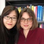 Professor Anja Wanner with Ph.D. student Lynn Zhang